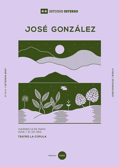 ESTUDIO ESTÉREO 2016 / Art Direction & Gig Posters Art direction for a series of gig posters (José González, Kings Of Convenience, City and Colour), for the 2016 Estudio Estéreo concert cycle. The concerts were performed in 2016 in Santiago, Chile. Graphic Design Posters, Graphic Design Typography, Graphic Design Inspiration, Graphic Design Illustration, Branding Design, Logo Design, Flat Design Poster, Poster Art, Poster Layout