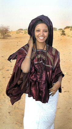 """Taureg woman with the beautiful smile...   """"Fati2""""  by viesmu #tuareg"""