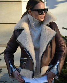 Perfect biker jacket by Yulia Wave. #winterstyle