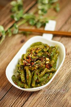 K Food, Food Menu, Cooking Recipes For Dinner, Cooking Photos, Korean Food, Food Plating, Recipe Collection, Asparagus, Green Beans