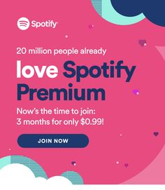 Spotify ad. I pretty much love all the color combinations and design of Spotify ads.