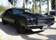 70 chevelle #BecauseSS twin turbo LS3 matte black painted bumpers spoiler trim boosted LS swapped 1970 murder murdered ss