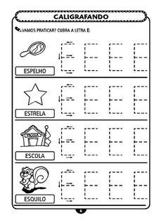 Atividades Para Educação Infantil - Caligráfia e Pontilhado - O Mundo Das Crianças Alphabet Worksheets, Kindergarten Worksheets, Classroom Activities, Abc Phonics, Learn Portuguese, Preschool Kindergarten, Learning Spanish, Notebook, Teaching