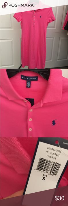 NWT Ralph Lauren Polo Dress Brand new with tags. Pink polo dress with navy pony. Size small. Polo by Ralph Lauren Dresses
