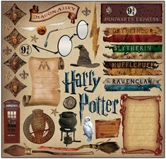Brilliant selection of Harry Potter Stickers - this will last for quite a few pages!