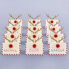 All in One: Ideas para decorar la mesa en navidad Christmas Potluck, Christmas Place Cards, Christmas Party Decorations, Xmas Party, Christmas Love, Christmas Holidays, All Things Christmas, Holiday Crafts, Holiday Decor