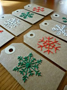 Multiply your joy a million times with over 25 cute label ideas . - Multiply Your Joy A Million Times With Over 25 Cute Christmas Gift Tag Ideas Easy Christmas Ornaments, Cute Christmas Gifts, Diy Christmas Cards, Homemade Christmas Gifts, Christmas Cross, Christmas Wrapping, Simple Christmas, Christmas Decorations, Embroidered Christmas Ornaments