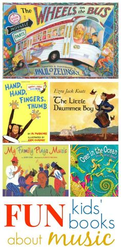 "FUN Kids Books about Music - a great selection! *Hand, Hand, Fingers, Thumb"" is an awesome book-great for learning how to read, and many math concepts"