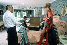 Martin Scorsese, Robert De Niro and Sharon Stone on the set of Casino.