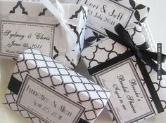 Sweet - Black & white soap favors   CHECK OUT MORE GREAT BLACK AND WHITE WEDDING IDEAS AT WEDDINGPINS.NET   #weddings #wedding #blackandwhitewedding #blackandwhiteweddingphotos #events #forweddings #iloveweddings #blackandwhite #romance #vintage #blackwedding #planners #whitewedding #ceremonyphotos #weddingphotos #weddingpictures