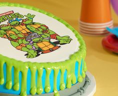 How-To Make a Teenage Mutant Ninja Turtles Drip Cake