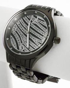 Black Nickel Tone / Lead&nickel Compliant / Zebra Print / Deployant Clasp Watch