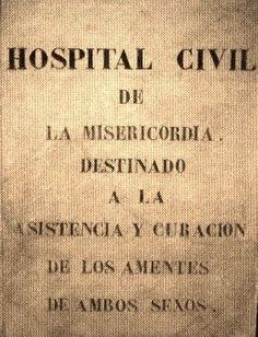 Placa del antiguo Manicomio del Cercado, hoy en el Hospital Larco Herrera. Lima, Perú.  (Foto S. Stucchi).