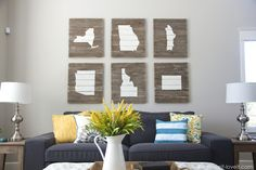 How to: Make Affordable and Easy Home State Art for Your Wall