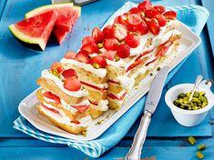 Wassermelonen-Erdbeerkuchen Rezept | LECKER