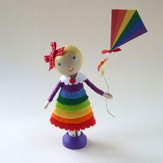 Rainbow Peg 'Doll'