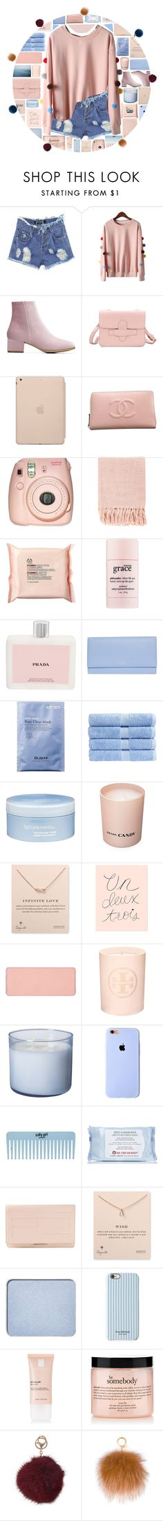 """YOINS"" by xgracieeee ❤ liked on Polyvore featuring Black Apple, Chanel, Fujifilm, Surya, Prada, The Body Shop, philosophy, Smythson, Christy and Aveda"