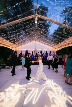 Clear tent - delicate spun fairy lighting. #weddingtent #weddingmarquee