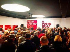 @piero_fassino sala stracolma  #orgogliotorino #noisiamotorino #fassino2016 #fassino #pierofassino #torino #torino2016 #pd #partitodemocraticotorino #partitodemocratico #scanderebech