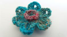 Men Lapel Pin   Blue  Noro  Boutonniere  OOAK  by Kenboutonniere