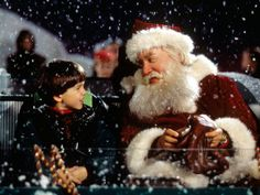 """Holiday movie triviaTHE SANTA CLAUSE This classic includes a nod to another great holiday film on this list. When the kids shout, """"Let him go! Let Santa go!"""" it's actually a reference to """"Miracle on Street. Best Holiday Movies, Classic Christmas Movies, 25 Days Of Christmas, Christmas Shows, Christmas Mood, Holiday Fun, Merry Christmas, Christmas Collage, Christmas Wishes"""