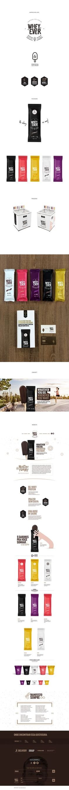WHEY EVER PROTEIN ICE CREAM on Behance- interesting lettering and logo