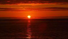 Puesta de sol en Noruega a las 23:40 horas.