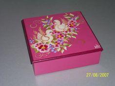 caja para té en saquitos pintura sobre madera madera,, pintura sobre madera,