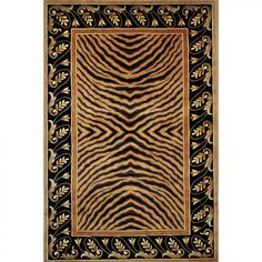 Momeni New Wave Brown Contemporary Rectangle Rug - NEWWANW-09BRN7696
