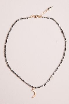 Brandy ♥ Melville   Crescent Moon Bead Choker - Jewelry - Accessories