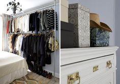 Exposed bedroom closet