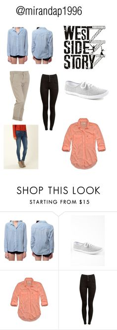 """""""west side story costume board @mirandap1996"""" by miranda-patterson on Polyvore featuring INDIE HAIR, Lake, Hollister Co. and Hudson Jeans"""