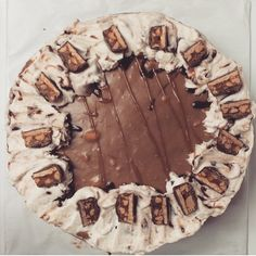 Snickers cheesecake cake!  I made this for Dan's birthday (he brought it to work)