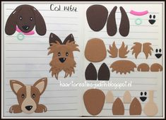 "Kaarten en Creaties van Judith: Collectables 1464 ""Puppy"" Marianne Design Cards, Canson, Dog Cards, Felt Patterns, Dog Pattern, Felt Applique, Animal Cards, Felt Toys, Punch Art"