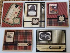 Masculine Cards - this paper reminds me of CTMH Passages (retired)