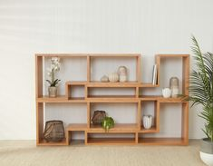 Add wooden doors to your shelving units to bring your living room right up to date with the wood interior trend. Cube Shelving Unit, Cube Shelves, Cube Storage, Wall Storage, Diy Storage, Storage Units, Wall Shelves, Storage Ideas, Floating Shelves
