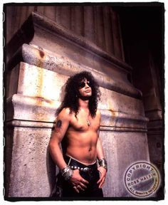 Slash young. Always wearing awesome jewellery.