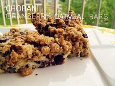 Chobani Cranberry Oatmeal Bars…clearly not for the cookie drive, but I have a ll these ingredients on hand…maybe breakfasts/snacks