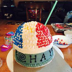 Snow cone cake Snow Cones, Cake Decorating, Birthday Cake, Decoration, Desserts, Food, Decor, Tailgate Desserts, Deserts