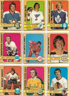 Al McDonough, Chris Evans, Pierre Jarry, Don Tannahill, Reynald Comeau… Hockey Cards, Baseball Cards, Pro Hockey, New York Islanders, Single Player, New York Rangers, Pittsburgh Penguins, Chicago Blackhawks, Chris Evans