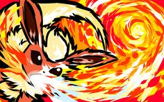 Flareon used Fire Spin! Shiny version My Pokemon Power Portrait Series Posters Pokemon Show, All Pokemon, Pokemon Fan Art, Pokemon Games, Cute Pokemon, Pokemon Eevee, Pikachu, Pokemon Pocket, Fan Art