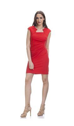 Robe CARLA rouge