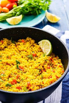 Serve this delicious Turmeric Coconut Rice for your next meal. Brown rice simmered in seasoned coconut milk with onion, garlic and thyme.