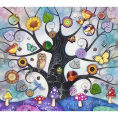 Kerry Darlington - Tree of Charms (Blue)