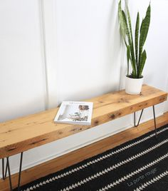 DIY bench with hairpin legs