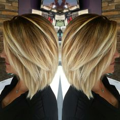Inverted bob blonde balayage by Jessica hunt IG- Jessicawhunt