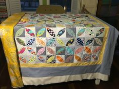 Orange peel quilt in progress
