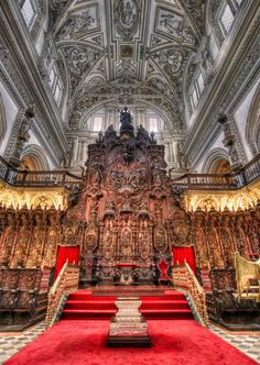 coro de la Mezquita-Catedral de Córdoba, España