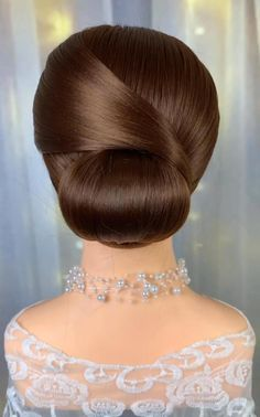 Hairdo For Long Hair, Bun Hairstyles For Long Hair, Gorgeous Hairstyles, Front Hair Styles, Medium Hair Styles, Natural Hair Styles, Hair Style Vedio, Hair Tutorials For Medium Hair, Bridal Hair Buns