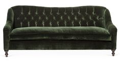 Available online exclusively at One Kings Lane: Softly contoured backing and arms add a quiet elegance to this velvet tufted sofa. Rendered in a rich shade of forest green, it will be a lovely...